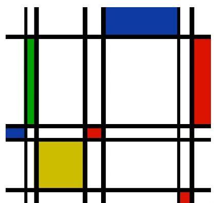 蒙德里安抽象作品-用艺术剖析 星际穿越 中的五维空间