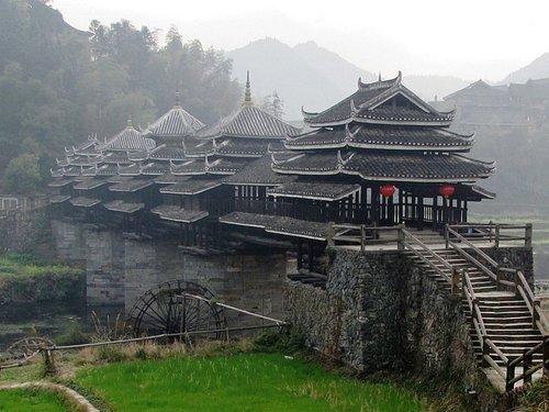 中国三江县:程阳风雨桥-别具一格 盘点最美的十座桥梁