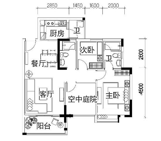 一百平方米小别墅设计图展示图片