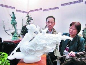 毕加索石版画 母爱 亮相广州艺博会 高清图片