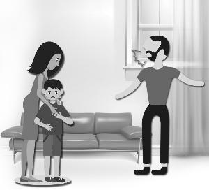 目睹母遭父家暴 孩子申请保护令