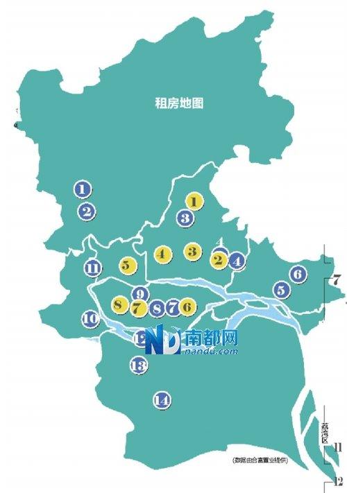 广州大塘街道手绘地图