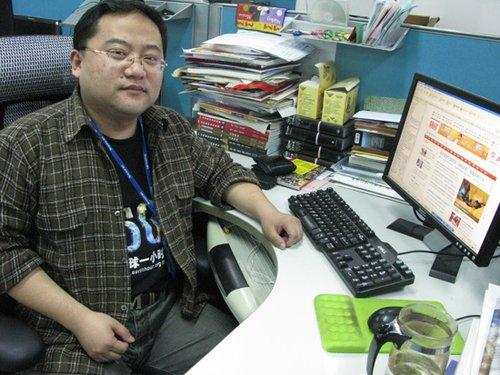 图:腾讯北京员工身穿地球一小时主题T恤上班