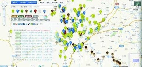 标识,绿色图标表示交通运输,蓝色图标表示人员服务,黄色图标高清图片