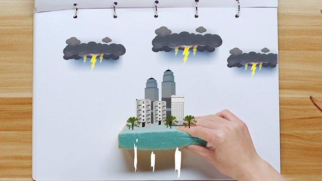 益视频|三分钟!教你用海绵建造一座城