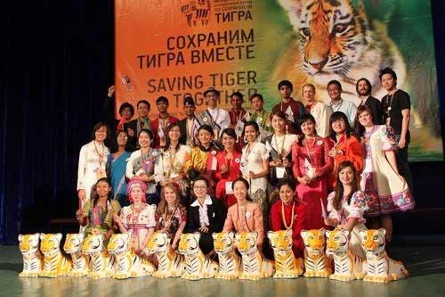 中国学生代表全球青年提交虎保护宣言(组图)