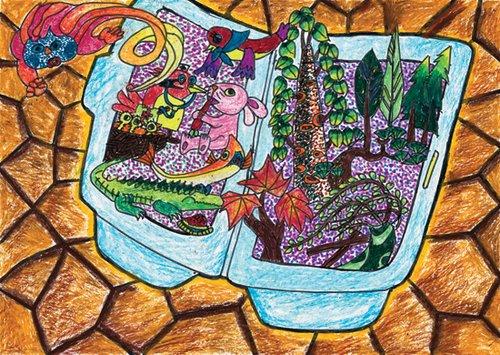 童环保绘画大赛一等奖展示