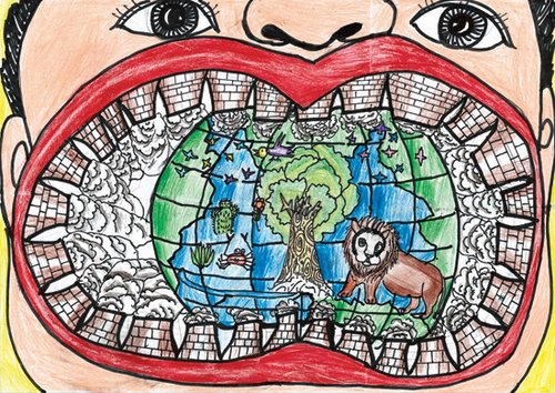 2010中国儿童环保绘画大赛一等奖展示图片