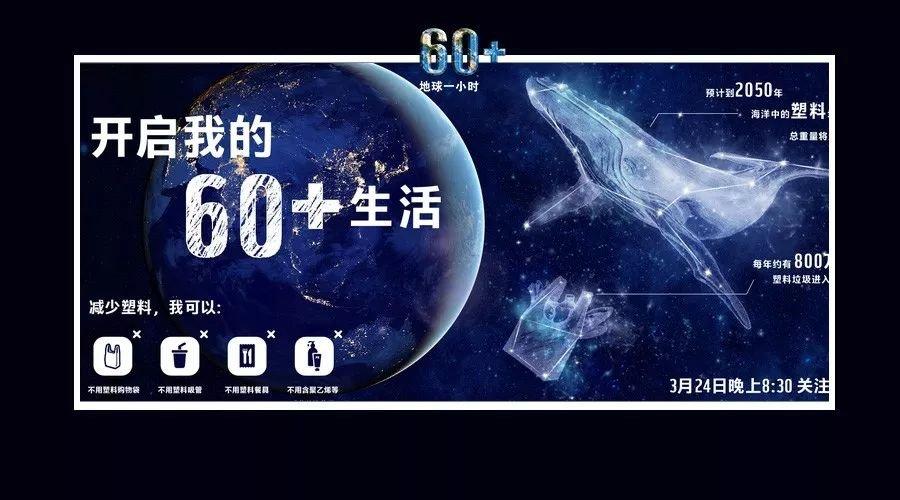 2018地球一小时,邀你开启60+生活