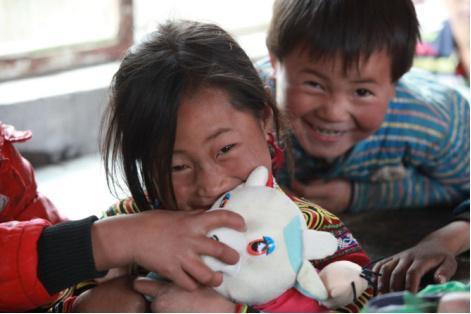 中华儿慈会基金捐赠贫困儿童200闲置玩具
