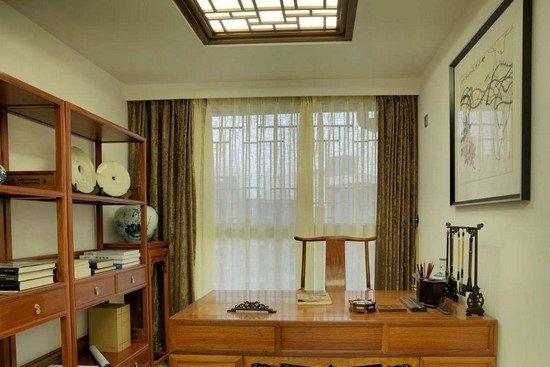 中式书房吊顶装修效果图大全