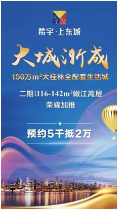 大城渐起!希宇上东城荣获2017广西地产金砖奖网络人气大奖