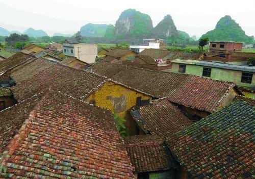 俯视八塘村风光-八塘村的旧时印记 组图