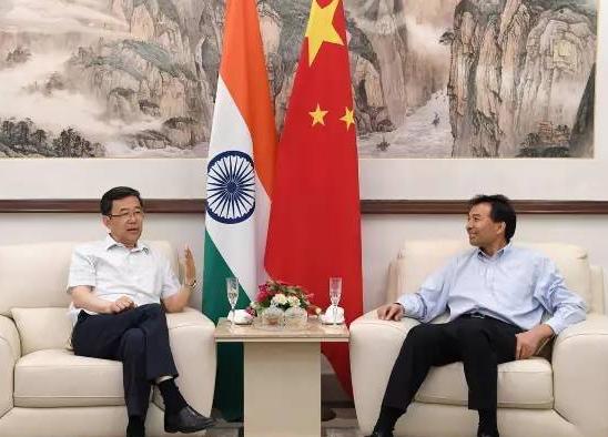 孙志刚会见中国驻印度大使和印中议会小组主席