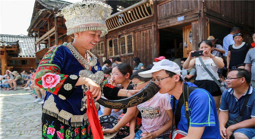 全国第一个民俗风情村寨游览地——郎德苗寨