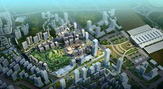 高铁旁最强能量场:梦想城下沉式广场图片