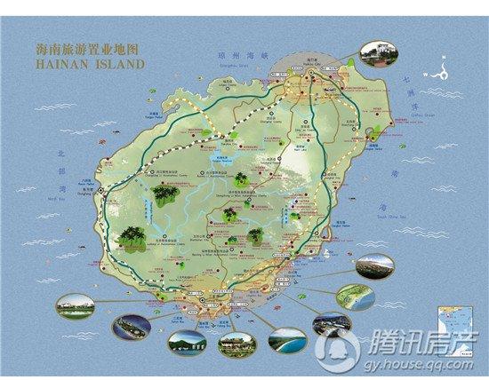 海南旅游地图