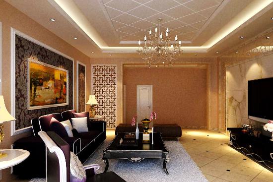 客厅欧式吊顶造型设计推荐