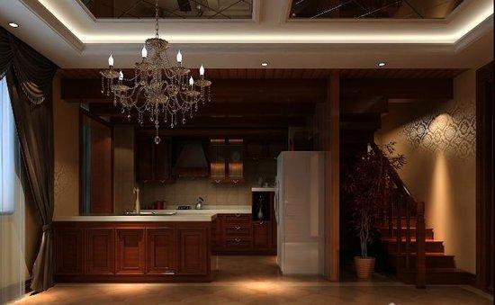 三口之家温馨格调244平中式别墅