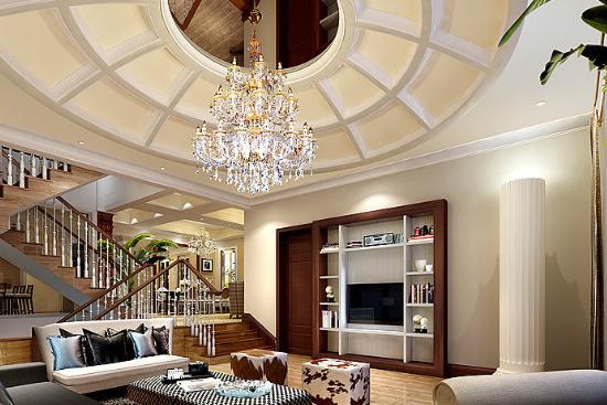 客厅欧式吊顶造型设计推荐图片