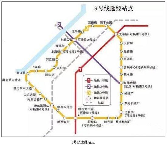哈市地铁3号线二期开建