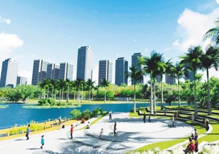 海口万绿园启动生态修复工作 将增加亲水平台栈道