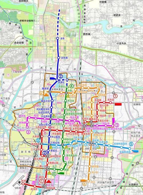 邯郸地铁二次环评时公布的邯郸市城市轨道交通线网及建设规划概述图片