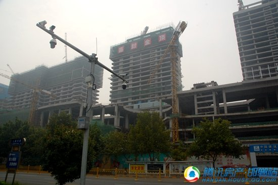 邯郸未来建筑标志--环球中心9月最新工程进度播报