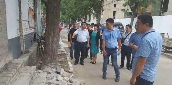 邯郸创城冲刺正当时 区级领导在一线