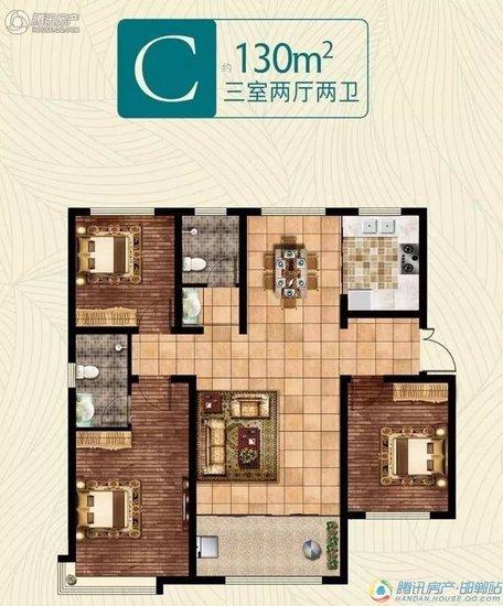 一步到位买三房!荣盛公园印象 优质三居室备受追捧