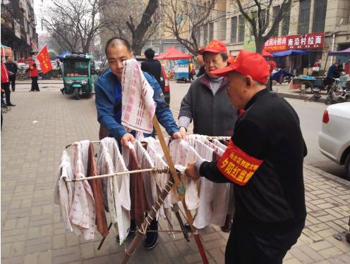 """丛台区和平街道""""夕阳红监督队""""志愿服务助力创城热潮"""