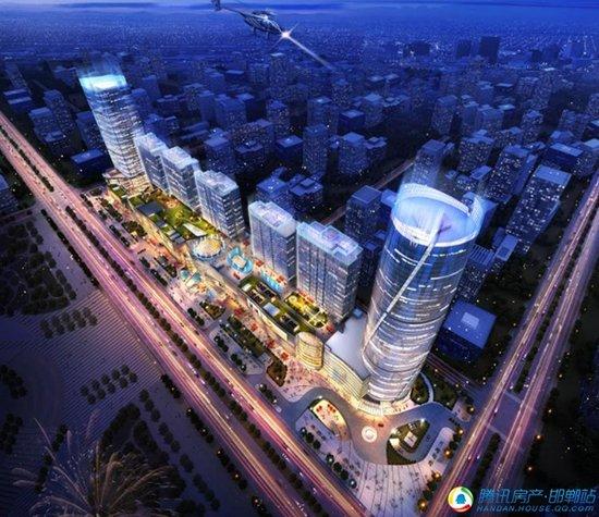邯郸新地景 世界城中 环球中心成为邯郸第一高