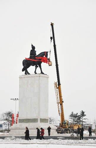 邯郸:华北地区最大青铜雕像落户广平