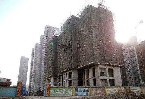 五仓区核心位置——阿尔卡迪亚蓝天城工程进度