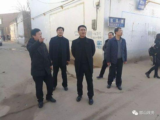 邯山区:副区长李响现场督导检查乡村环境卫生、土地确权工作
