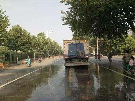 """邯郸开启""""洗城模式"""" 80条街路排队""""洗澡"""""""