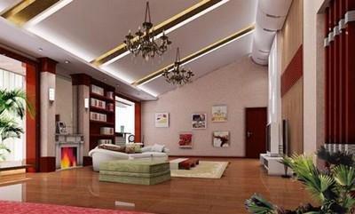 别墅斜顶阁楼装修 实现小空间大利用高清图片
