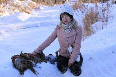 冬天的冷艳――伊春狩猎遇到美女手