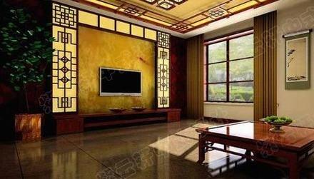 中式客厅电视背景墙 中国人的装修风格