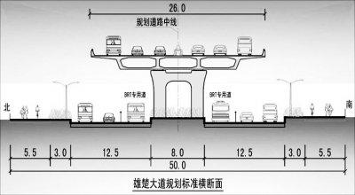 """武汉雄楚大街将现首条""""公交高速路""""(图)"""