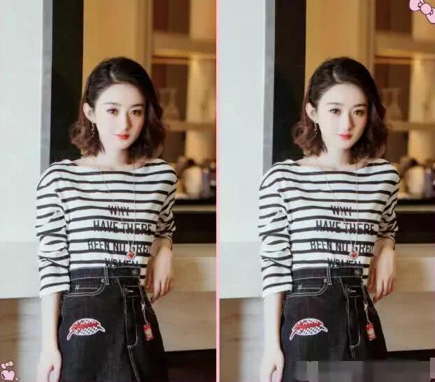 赵丽颖换了个网友发型发型却都说她整容了汉朝的短发图片