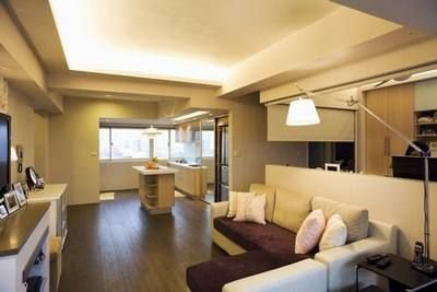 简约装修效果图 89平方美式风格的家居设计图片
