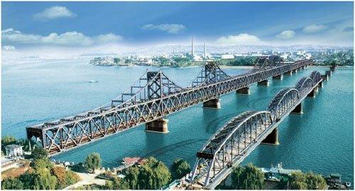 辽宁丹东---- 鸭绿江断桥 - 海阔山遥 - .