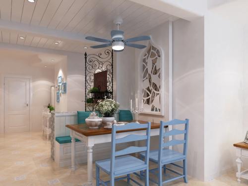 每天都是正能量 大胆色彩打造地中海风格家