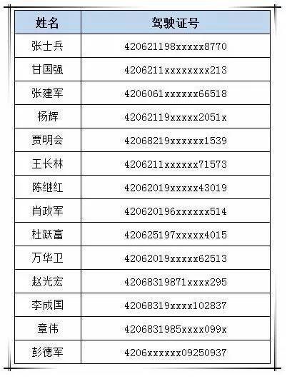 曝光!湖北襄阳2017年一季度吊销驾驶证199名
