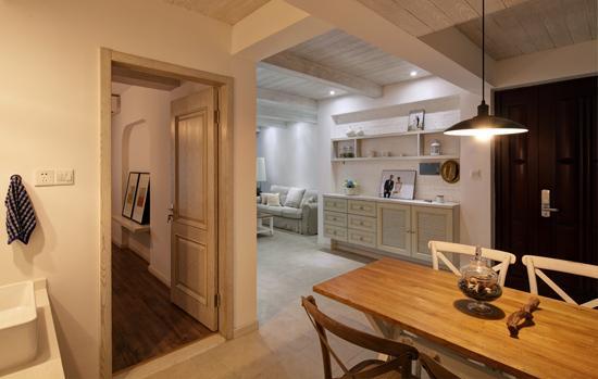 天津装修公司哪里好】原木清新豁亮居家装饰,92平米雪域般的北欧风格