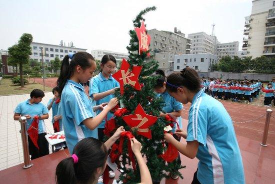 武汉初中生庆儿童节成长心愿卡自制装扮树_初中周末250字周记图片