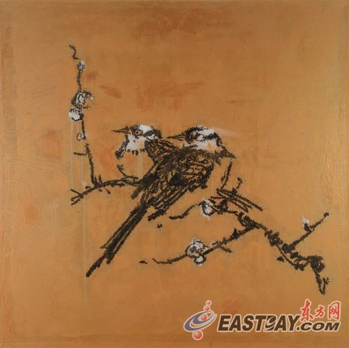 """""""雀神怪鸟""""叶永青2012上海作品展即将拉开帷幕图片"""