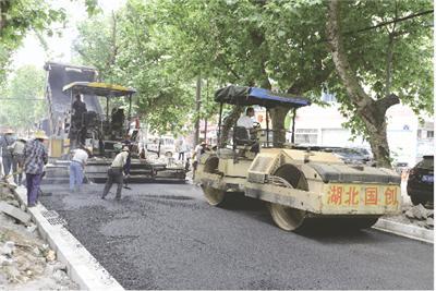 荆州金龙路改造刷黑即将完工 上半年可通车(图)