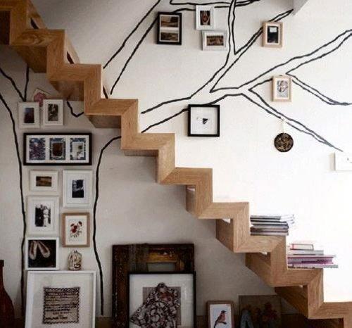 欧式楼梯装修效果图 出挑设计打造完美复式